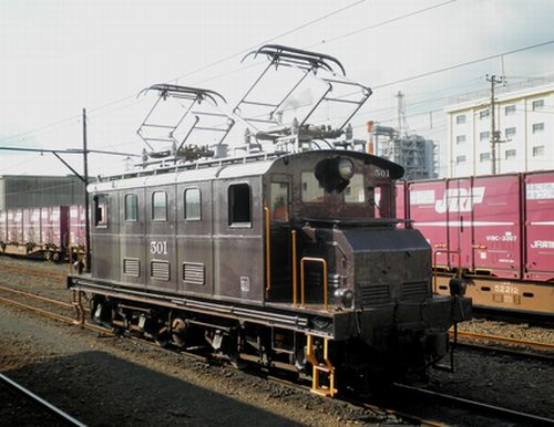 岳南鉄道ED501(2011年10月6日・岳南原田駅)1