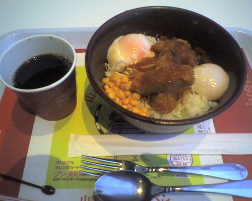鉄道博物館(大宮)「旅のレストラン日本食堂」の「ハチクマライス」(2009年1月18日)b