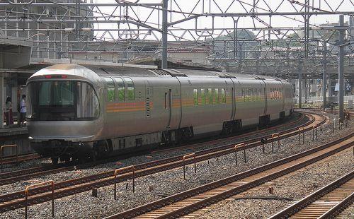 特急「カシオペア」(東十条駅、2013年6月23日)