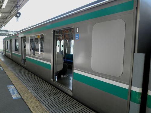 クハE500-1(水カツ)トイレ部分外観(2013年6月24日・小山駅)