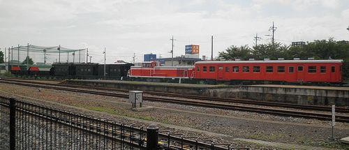 真岡鐵道・真岡駅構内留置車両群(2013年6月24日)