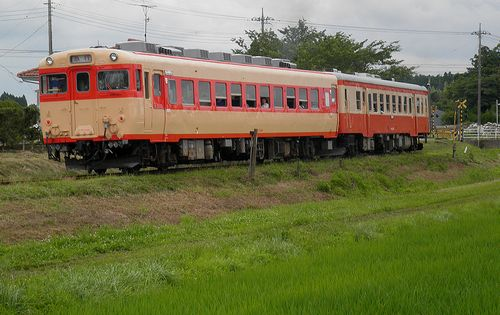 いすみ鉄道キハ28 2346+キハ52 125(2013年6月30日・新田野駅)