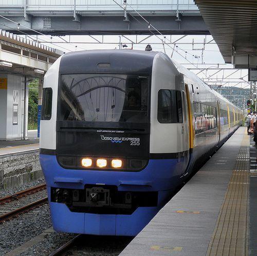 千マリ255系「Be-04」編成・特急「新宿わかしお」(2013年6月30日・大原駅)