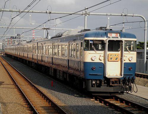 八トタ115系M40編成(2013年7月20日・国立駅)