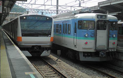 八トタE233系「T21」編成・快速「富士山リレー7号」(2013年7月21日・高尾駅)