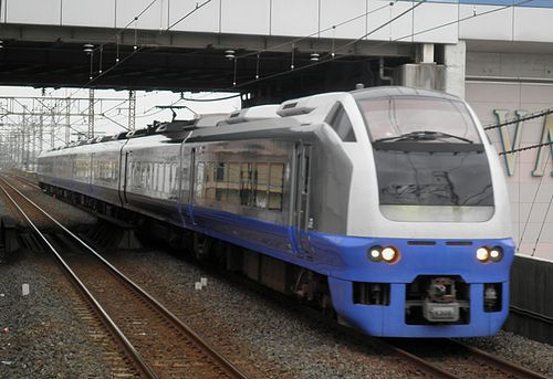 水カツE653系「K308」編成・快速「マリンブルー南房総」(2013年7月20日・南越谷駅)1