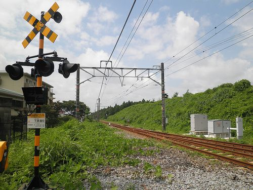 御殿場線富士岡駅・スイッチバック跡(2013年8月4日)1