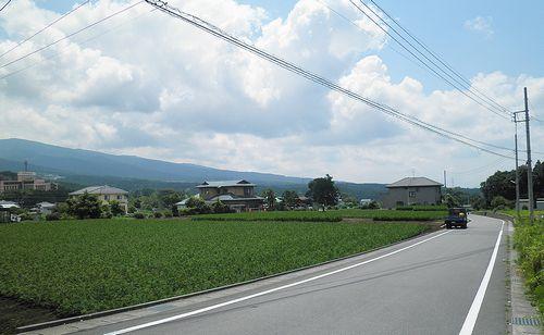 静岡県御殿場市神山付近の風景(2013年8月4日)