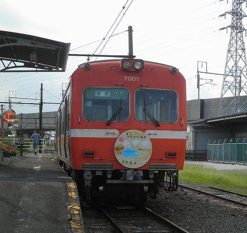 岳南電車モハ7001(岳南江尾駅・2013年8月4日)