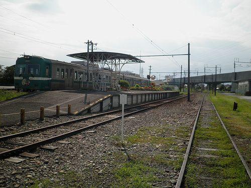 岳南電車岳南江尾駅(2013年8月4日)
