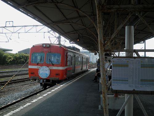 岳南電車吉原駅(2013年8月4日)