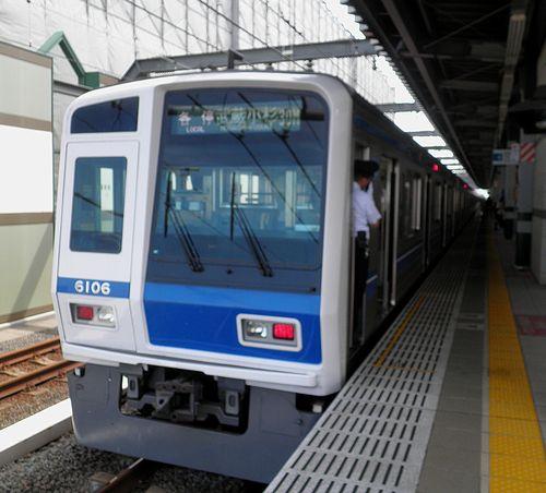 西武6000系「武蔵小杉行き」(2013年7月15日・練馬駅)1