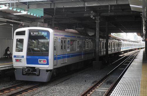 西武6157F・アニメ映画「あの花」ラッピング電車(2013年8月27日・保谷駅)