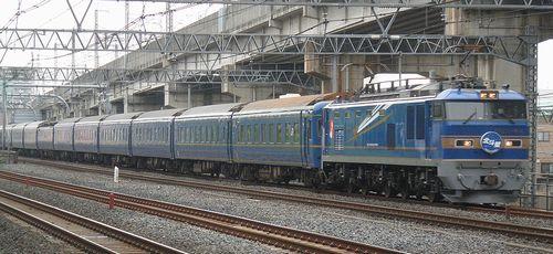EF510-504[田]牽引「北斗星」(東十条~赤羽間・2013年9月7日)