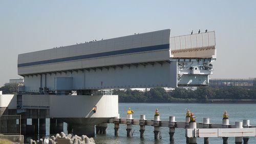 首都高速道路1号羽田線・羽田可動橋(2013年9月19日)2