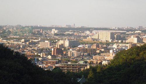 よみうりランドの丘から調布市方向を望む(2013年9月29日)