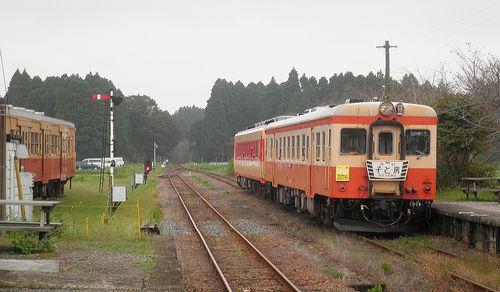 いすみ鉄道キハ52 125+キハ28 2346(2013年10月6日・国吉駅)