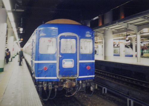 特急「あけぼの」・オハネフ24(盛アオ)(1999年1月24日・上野駅)