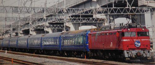 EF81 94[田]牽引「北斗星」(2001年12月・東十条駅)