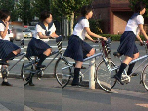 【三次画像あり】 ミニスカの女子高生が自転車に乗ってるとドキっとするよね! 53枚 part.13 No.44