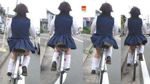 【三次画像あり】 ミニスカの女子高生が自転車に乗ってるとドキっとするよね! 53枚 part.13 No.49