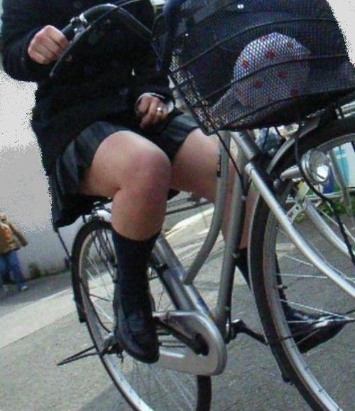 【三次画像あり】 ミニスカの女子高生が自転車に乗ってるとドキっとするよね! 53枚 part.13 No.53