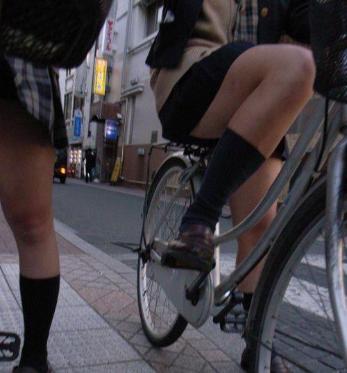 【三次画像あり】 JK自転車パンチラ女子高生集めたから貼ってくよ~♪ 54枚 part.14 No.5