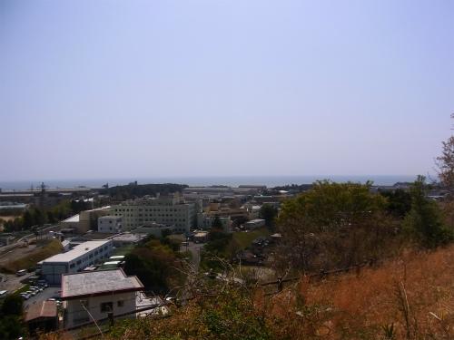 助川城から太平洋