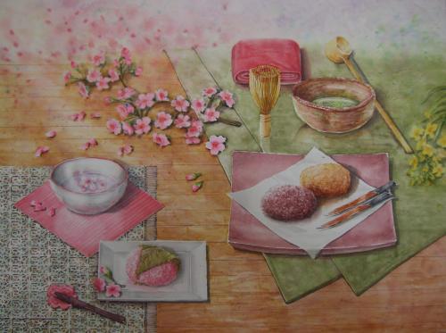 桜茶と抹茶