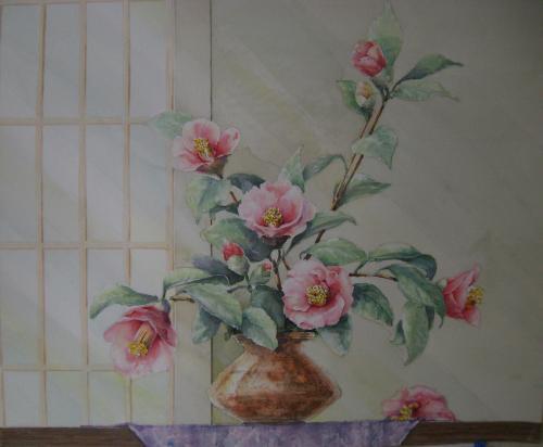 椿の生け花