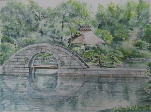 縮景園跨虹橋