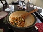 土鍋でビビンパ風