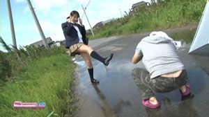川崎裕菜制服ビキニメイキング