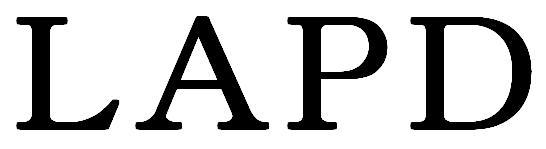 LAPD 黒文字