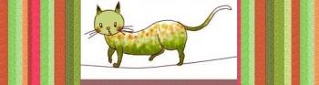 綱渡り猫ちゃんw