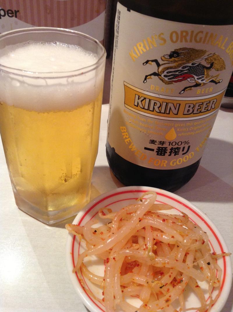 ビールともやし