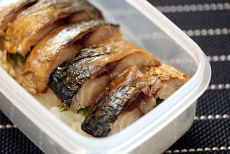 焼き塩鯖寿司2