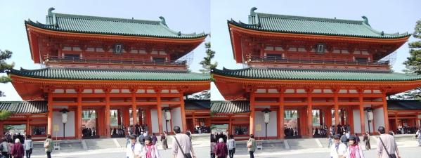 平安神宮①(交差法)
