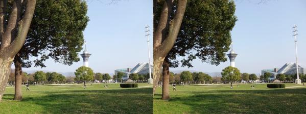 鶴見緑地公園①(交差法)