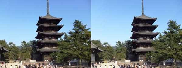 興福寺 五重塔(平行法)