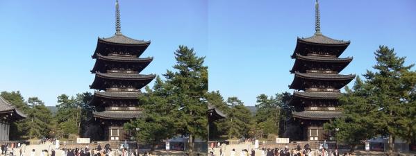 興福寺 五重塔(交差法)