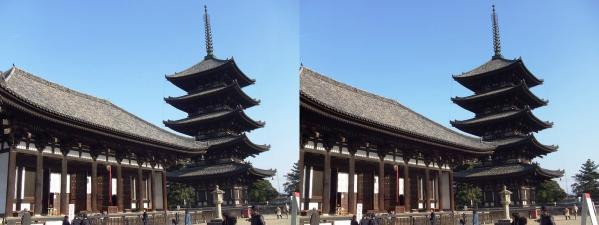 興福寺 五重塔・東金堂(交差法)