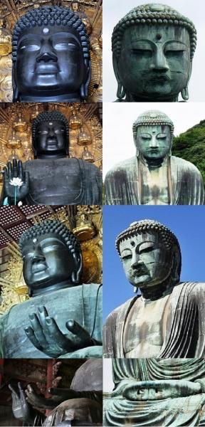 奈良の大仏・鎌倉の大仏 比較