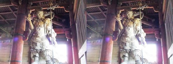 東大寺大仏殿『金堂』多聞天像(平行法)