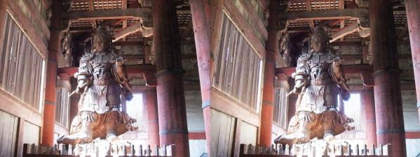 東大寺大仏殿『金堂』広目天像(平行法)
