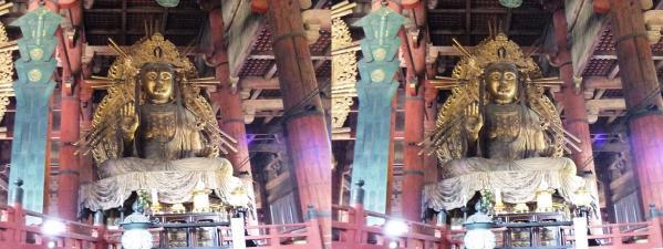 東大寺大仏殿『金堂』如意輪観音菩薩像(平行法)