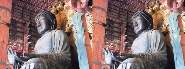 東大寺大仏殿『金堂』盧舎那仏坐像④(平行法)