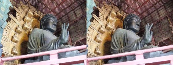 東大寺大仏殿『金堂』盧舎那仏坐像③(交差法)