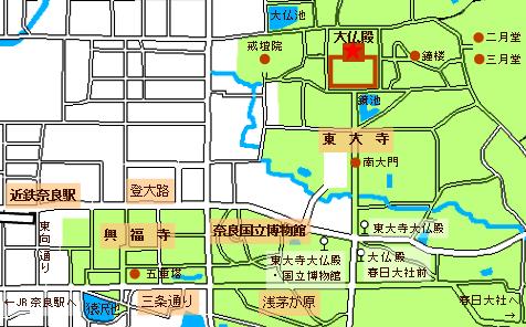 東大寺大仏殿map
