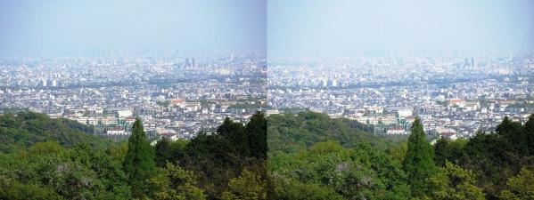 神呪寺からの眺望①(平行法)